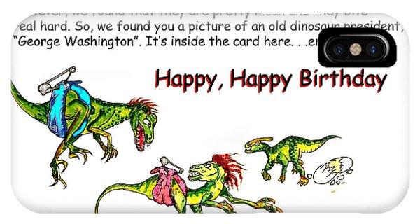 Dinosaur Kids Birthday IPhone Case