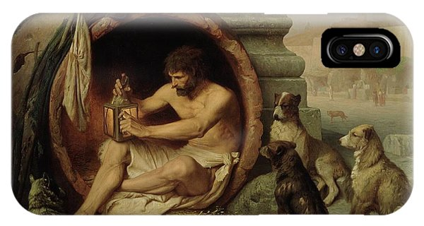 Poor iPhone Case - Diogenes by Jean Leon Gerome