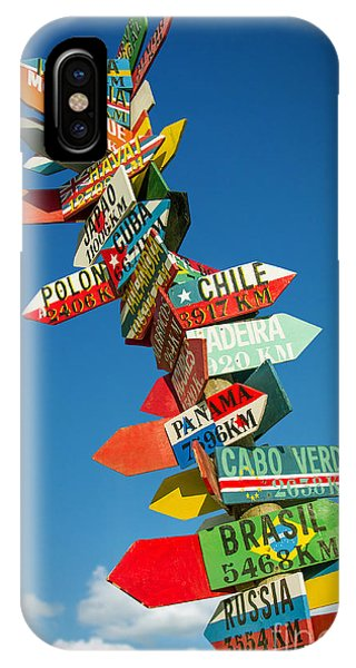 Road Signs iPhone Case - Directions Signs by Carlos Caetano