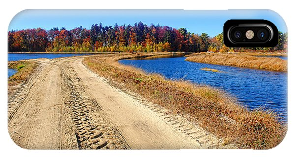 Dirt Road In Marsh IPhone Case