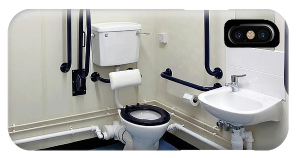 Toilet iPhone Case - Disabled Washroom And Lavatory by Mark Sykes