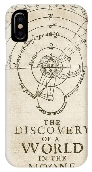 Discovery Of A World In The Moone (1638) IPhone Case