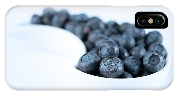 Blue Berry iPhone Case - Dish Of Blueberries by Amanda Elwell