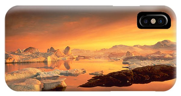 Glacier Bay iPhone Case - Disko Bay, Greenland by Panoramic Images