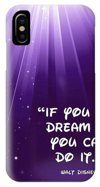 Disney's Dream It IPhone Case
