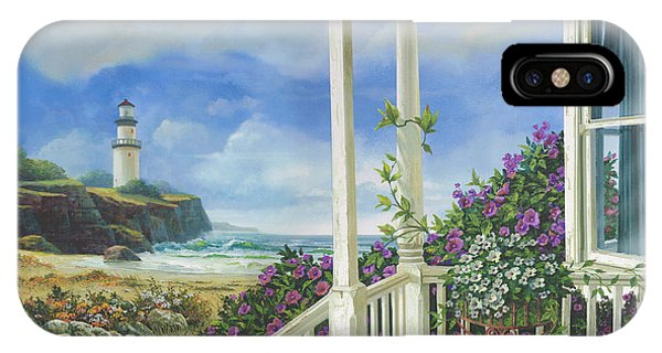 Porch iPhone Case - Distant Dreams by Michael Humphries