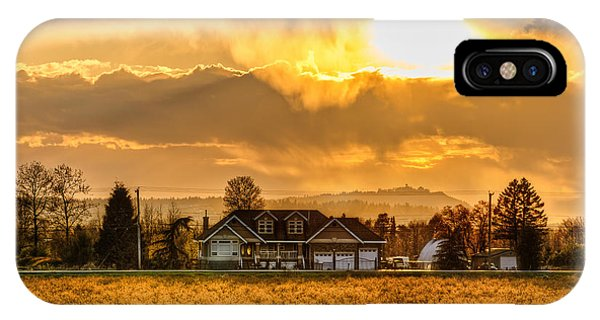 Wheeler Farm iPhone Case - Distant House by James Wheeler