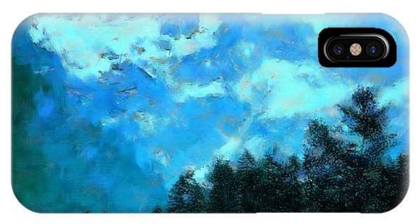 Treeline iPhone Case - Distant Peaks by Jon David