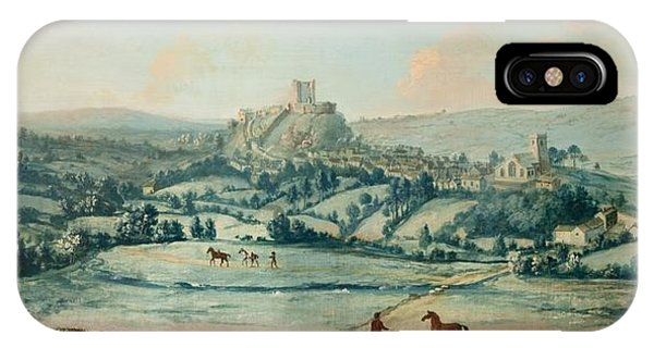 English Village iPhone Case - Distant View Of Clitheroe, C.1730 by Matthias Read
