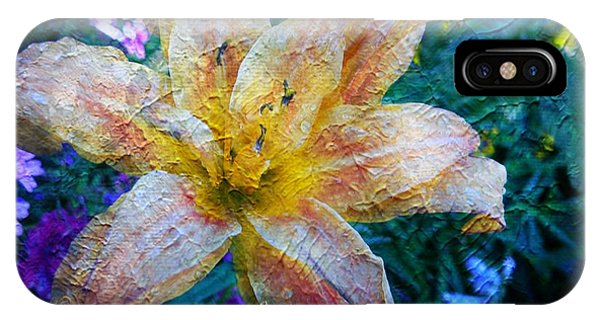 Distressed Lily IPhone Case