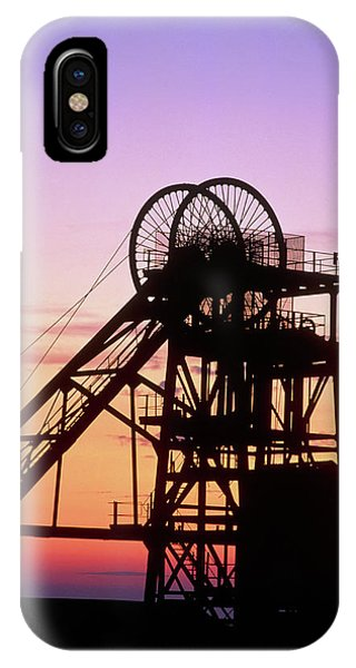 Disused Pit Head In Whitehaven Phone Case by Martin Bond/science Photo Library