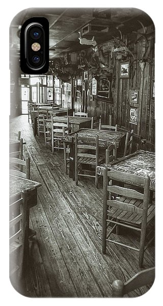 Monochrome iPhone Case - Dixie Chicken Interior by Scott Norris