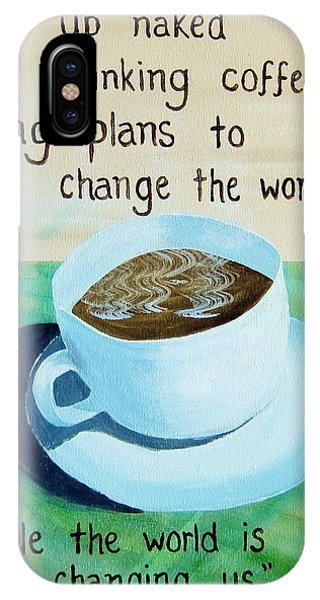 Dmb Coffee Song Lyric Art IPhone Case