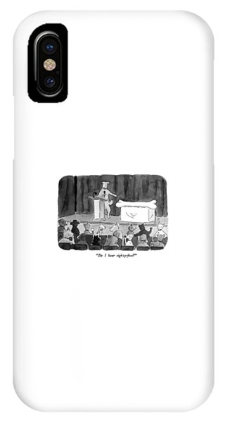 Bone iPhone Case - Do I Hear Eighty-five? by Danny Shanahan
