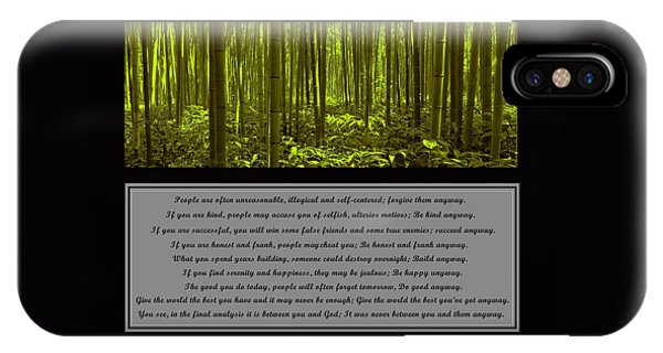 Do It Anyway Bamboo Forest IPhone Case