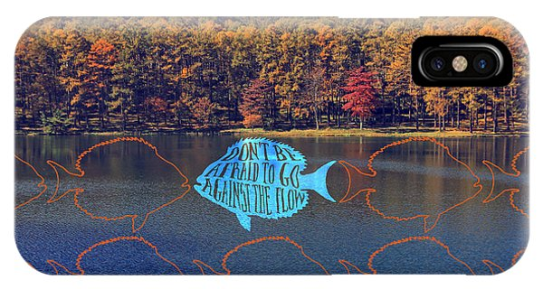 Do Not Be Afraid To Go Against The Flow Fish In Autumn Lake IPhone Case