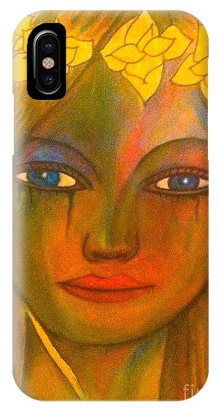 Do Not Cry Painting By Saribelle Rodriguez IPhone Case