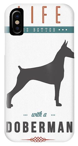 Doberman Pinscher 01 IPhone Case