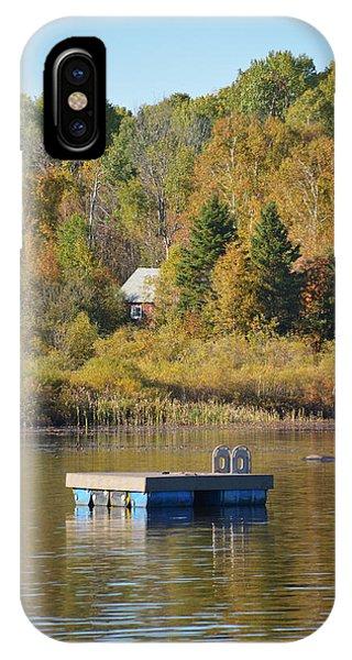 Sherri iPhone Case - Dock On The Lake by Sherri Abell
