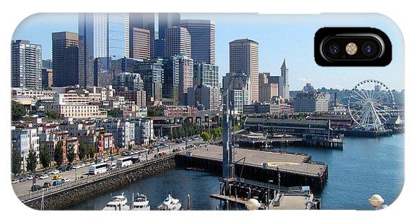 Dock Side In Seattle  IPhone Case