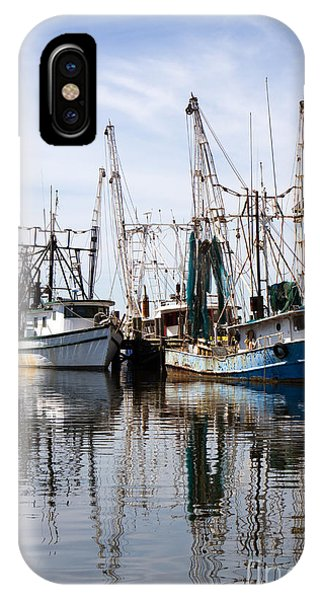 Docked Shrimp Boats IPhone Case
