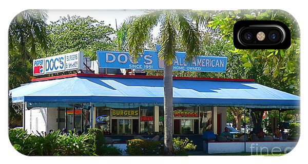 Docs Famous Restaurant And Ice Cream In Delray Beach Florida Circa 1950 Phone Case