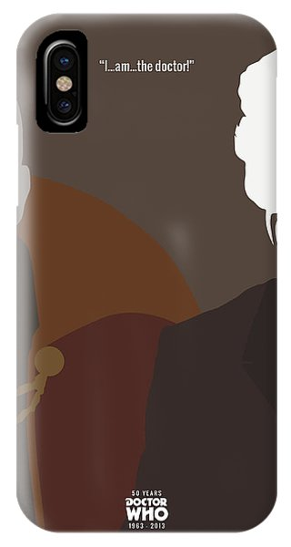 Doctor Who 50th Anniversary Poster Set Eighth Doctor Phone Case by Jeff Bell