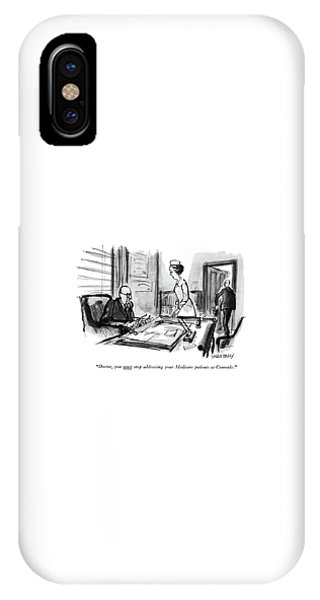 Doctor, You <u>must<$> Stop Addressing IPhone Case