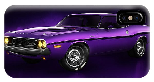 Dodge Challenger Hemi - Shadow IPhone Case