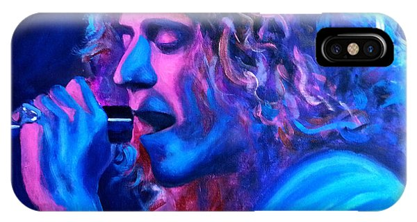 Robert Plant iPhone Case - Does Anybody Remember Laughter? by Tom Carlton