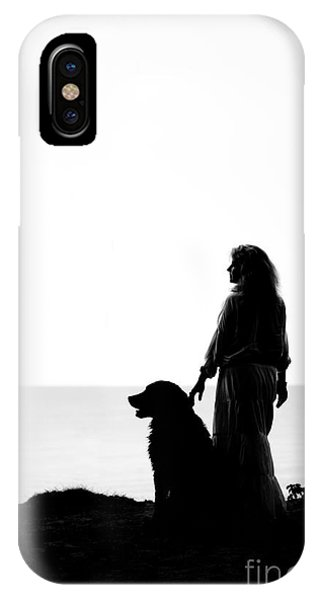 Bernese Mountain Dog iPhone Case - Dog And Woman by Aleksey Tugolukov
