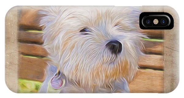Dog Art - Just One Look IPhone Case