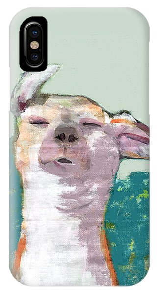 Dog In Wind IPhone Case