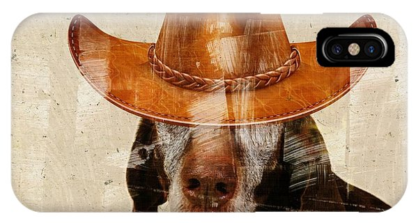 Dog Personalities 01 Cow-boy IPhone Case
