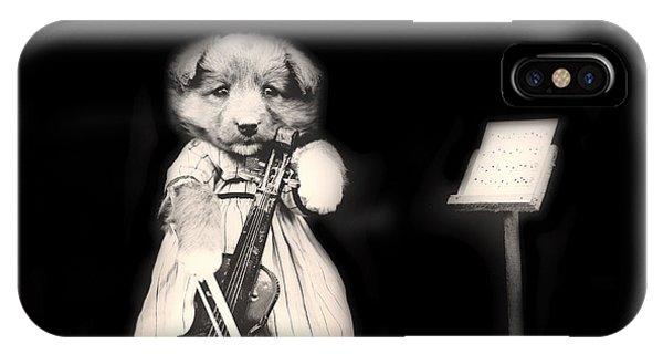 Violin iPhone X Case - Dog Serenade by Mountain Dreams