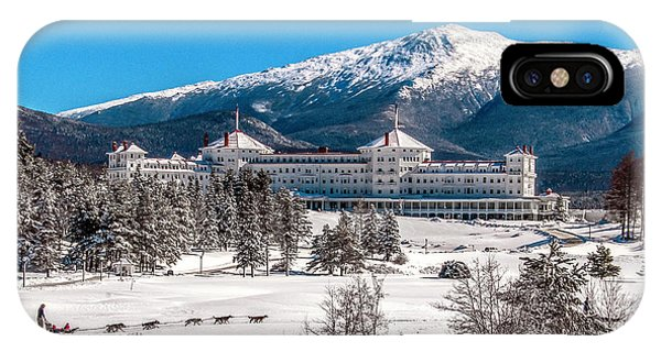 Dog Sled At The Mount Washington Hotel IPhone Case