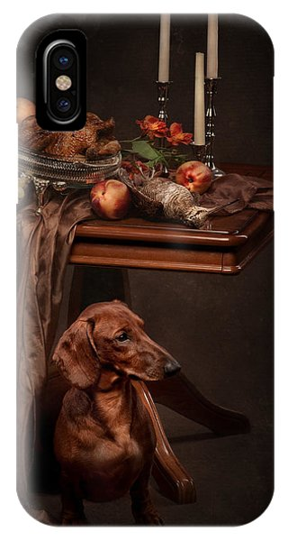 Dog Under The Table IPhone Case