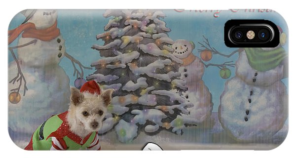 Doggy Elf Nice List IPhone Case