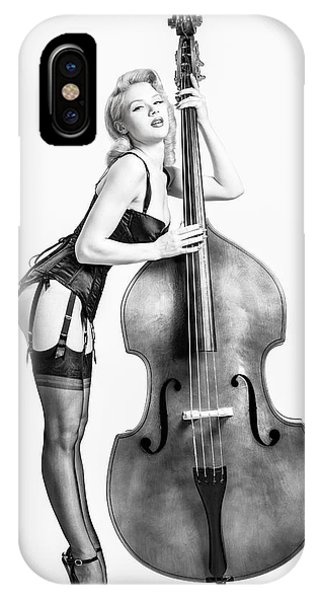 Doghouse With Mosh - String Bass Baby   IPhone Case