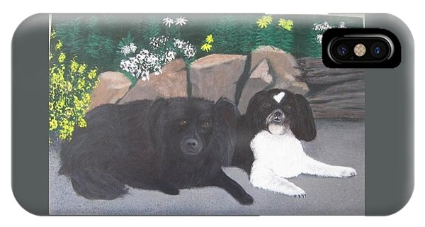 Dogs Daisy And Buttons IPhone Case