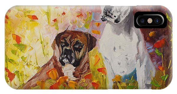 Dogs Painting Fine Art By Ekaterina Chernova IPhone Case