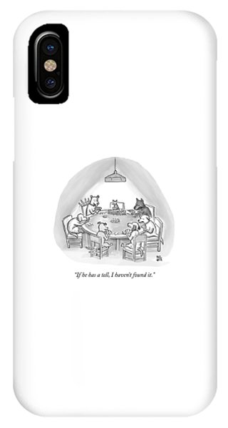 Dogs Playing Poker Refer Angrily To A Cat Who IPhone Case