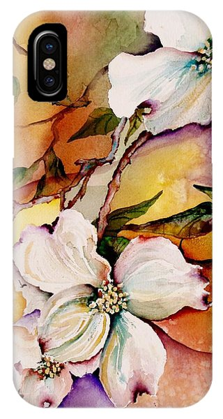 Blooming iPhone Case - Dogwood In Spring Colors by Lil Taylor
