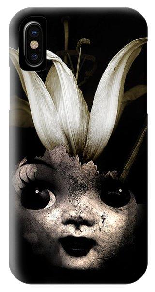 Surrealistic iPhone Case - Doll Flower by Johan Lilja