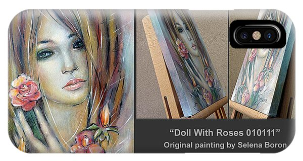 Doll With Roses 010111 Comp IPhone Case