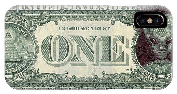 Dollar Bill Alien IPhone Case