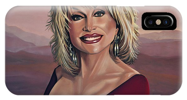 I Love You iPhone Case - Dolly Parton 2 by Paul Meijering