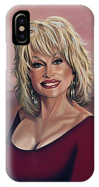 Coat iPhone Case - Dolly Parton 2 by Paul Meijering