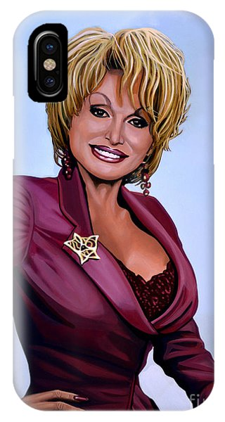 I Love You iPhone Case - Dolly Parton by Paul Meijering