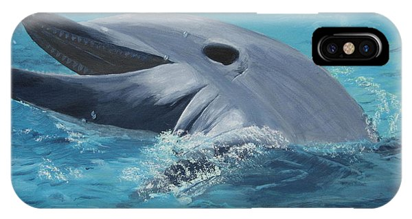 Dolphin At Play IPhone Case